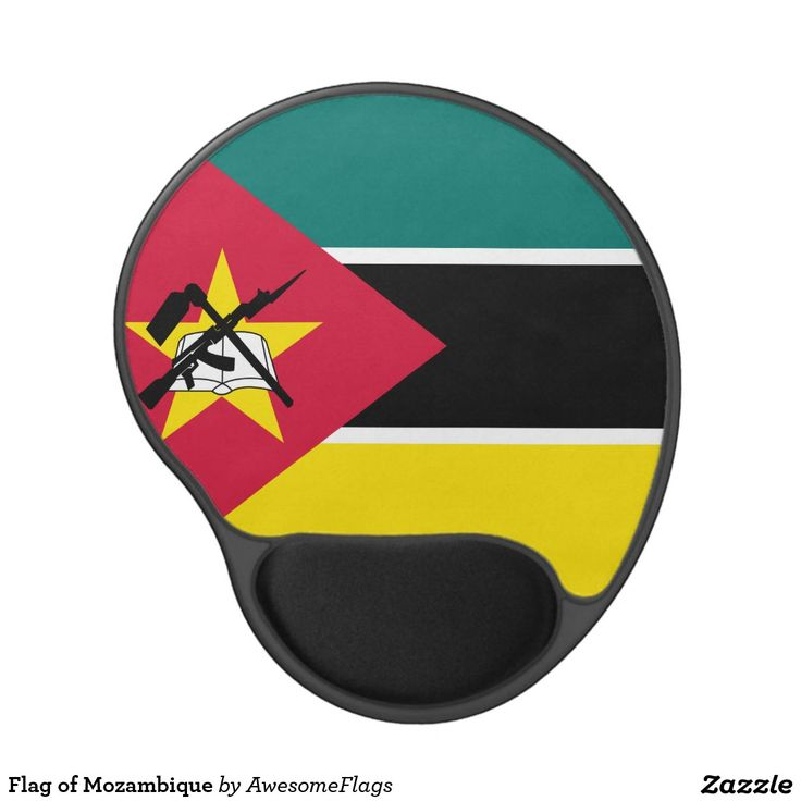 Flag of Mozambique Gel Mouse Pad