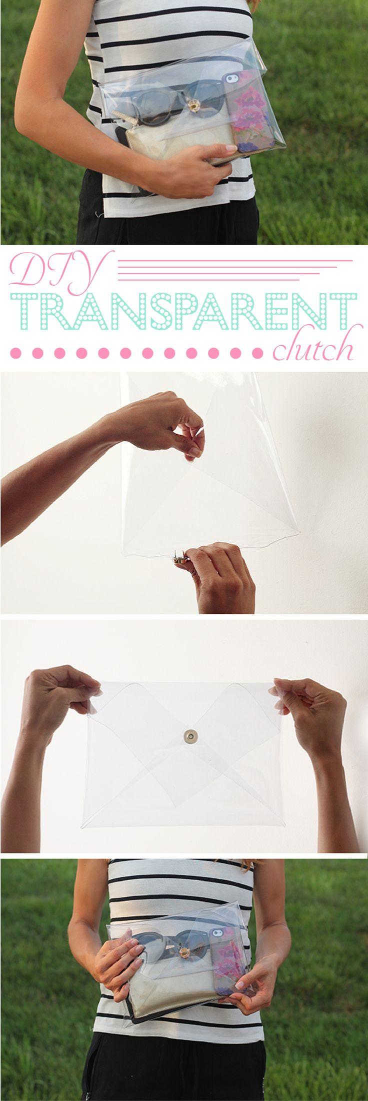 best 25+ transparent clutch ideas on pinterest | diy bags clutch