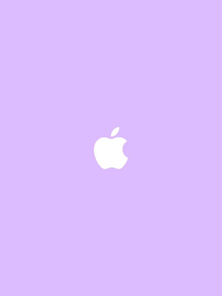 Lockscreen Apple Logo Wallpaper pastel Mac Pink Blue Lila