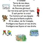This is a nice handout of the French lyrics to the Canadian national anthem with Canadian themed clipart to support it.  Use MicroSoft Word and not...