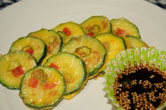 ホバクジョン -- ズッキーニの黄金焼き | 韓国料理店に負けない韓国家庭料理レシピ「眞味」