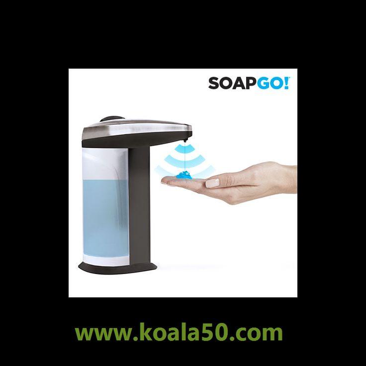 Dispensador de Jabón Automático Soap Go - 7,22 €  ¡La revolución de los cuartos de baño! Llega el dispensador de jabón automático Soap Go para que no tengas que ensuciarlo todo cada vez que vayas a lavarte las manos. Sólo pasa la mano por...  http://www.koala50.com/regalos-para-el-hogar/dispensador-de-jabon-automatico-soap-go