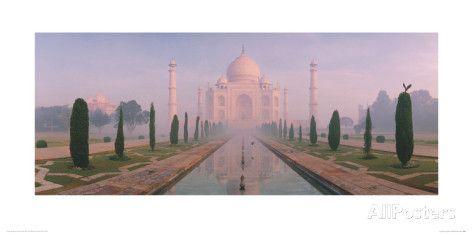 Taj Mahal And Eagle, Agra, India Giclee Print by Macduff Everton at AllPosters.com 40x20