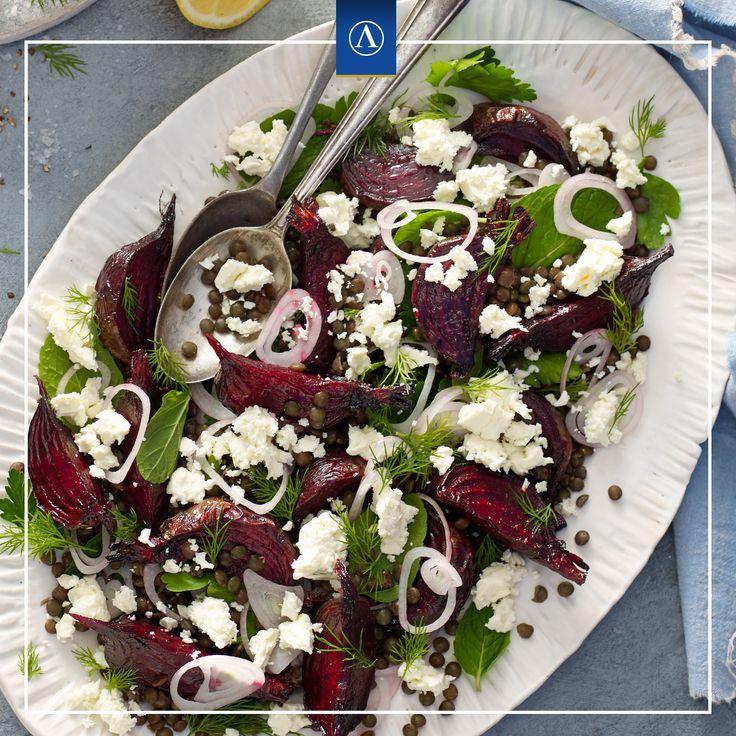 Beetroot, Lentil and Fetta Salad  #vegetarianrecipes #easyrecipes #Lemnos #Fetta #Haloumi #Mediterranean