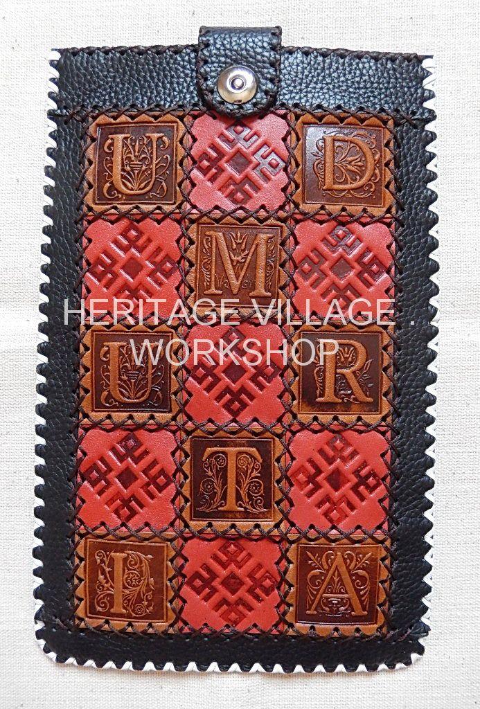 """Кожаный сувенирный футляр ручной работы для планшетного компьютера  - """" Удмуртия """" . Handmade leather case for  Tablet computer  - """" Udmurtia """" . #udmurtia , #Удмуртия , #Udmurcja , #handmade , #case , #ижевск , #россия"""