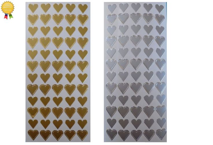 Peel Off Stickers *HEARTS* Love, Romance - Card Making, Scrapbooking Peel offs