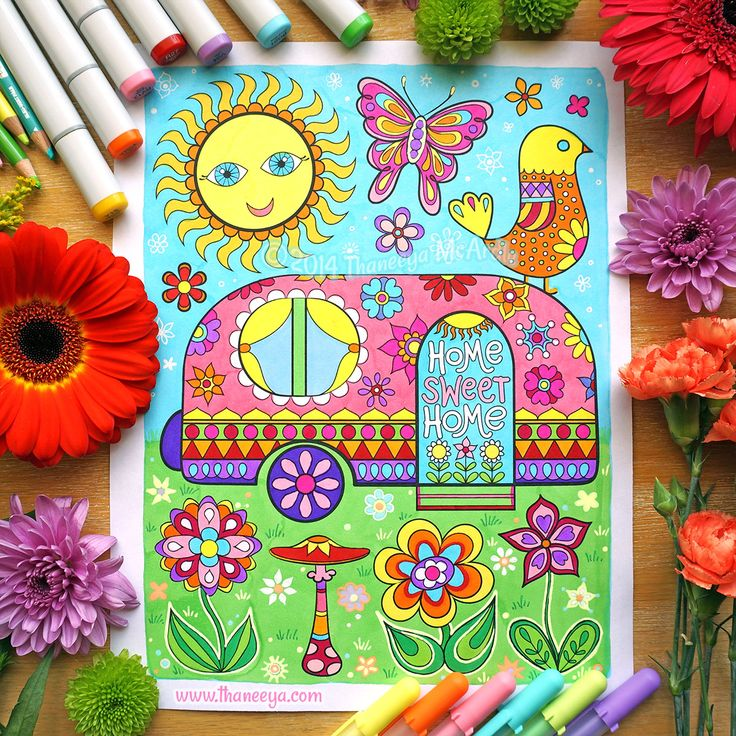 197 Best Coloring Books By Thaneeya Images On Pinterest