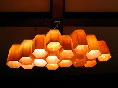 SCOTT NORWOOD FITZEL: Hive - Blown glass chandelier- Wailea, Maui