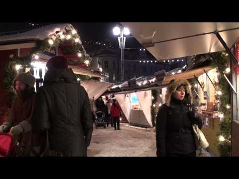 Tampere na Finlândia: mercado de Natal