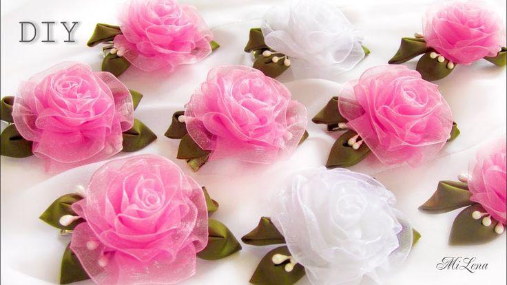 ПРОСТЫЕ РОЗОЧКИ ИЗ ОРГАНЗЫ, МК / DIY Beautiful Organza Roses - YouTube