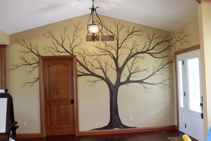 sandy+boone+murals | Photo: Entry Way Family Tree Mural - A place to hang family portraits.