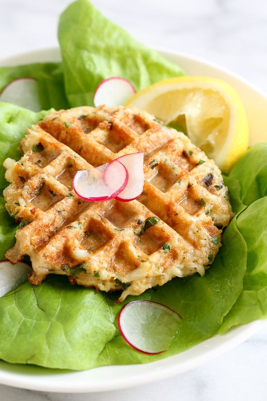 Waffled Crab Cakes | Skinnytaste