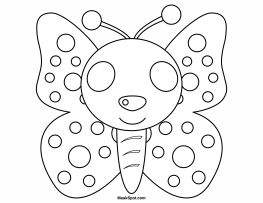 butterfly mask coloring pages | Butterfly Mask Template