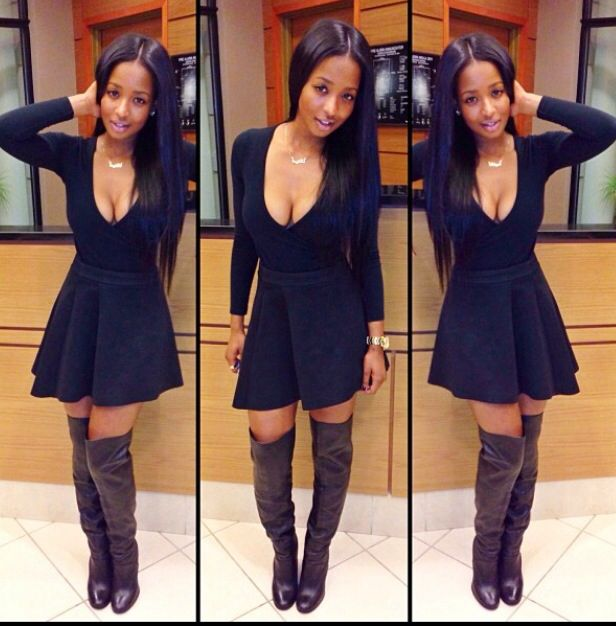 knee high boots with dress everyday