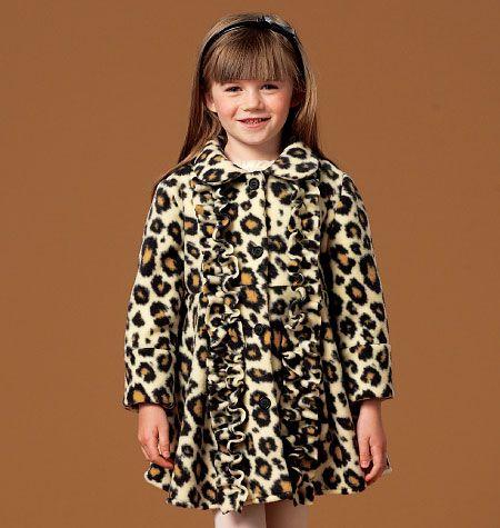 M7013, Children's/Girls' Coats and Belt