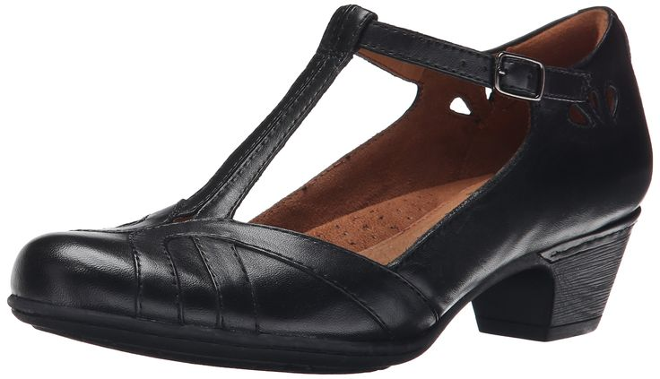 Rockport Cobb Hill Women's Angelina Dress Pump, Black, 11 W US. Extended sizes and widths offered. Comfort insole with extra cushioning.