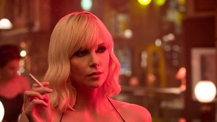 Atomic Blonde Charlize Theron smoking