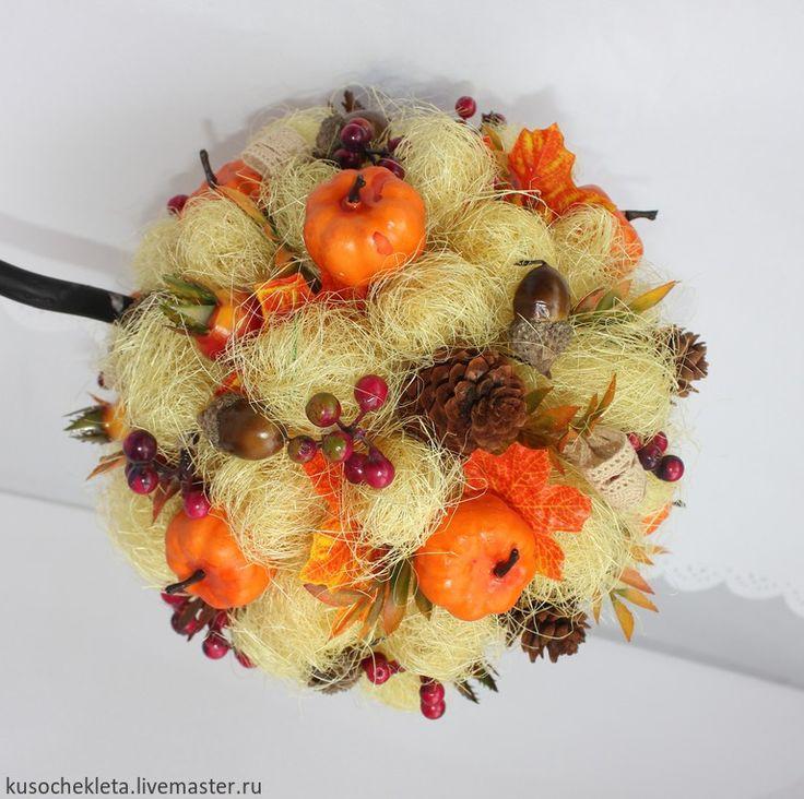 """Купить Топиарий """"Дары осени"""" - разноцветный, осень 2015, украшение интерьера, украшение кухни, топиарий"""