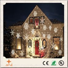Waterproof black Plastic Sparkly Landscape White Snow Lamp Outdoor Gardenl christmas led projection Laser party lights