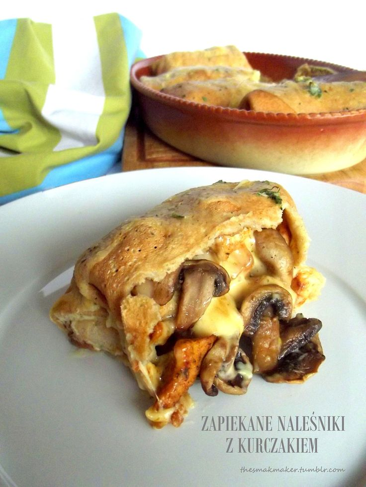 Baked pancakes with chicken
