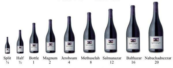bottles of wine in sizes1 When Wine Bottle Size Matters Explanation of Large Format Wine Bottles