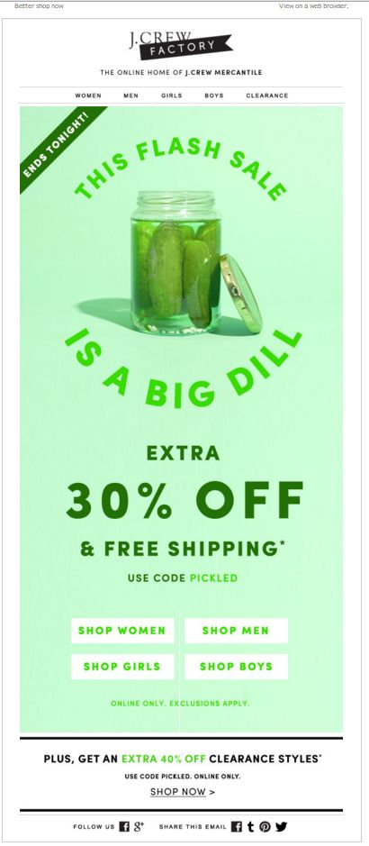 This flash sale was a cucumber yesterday