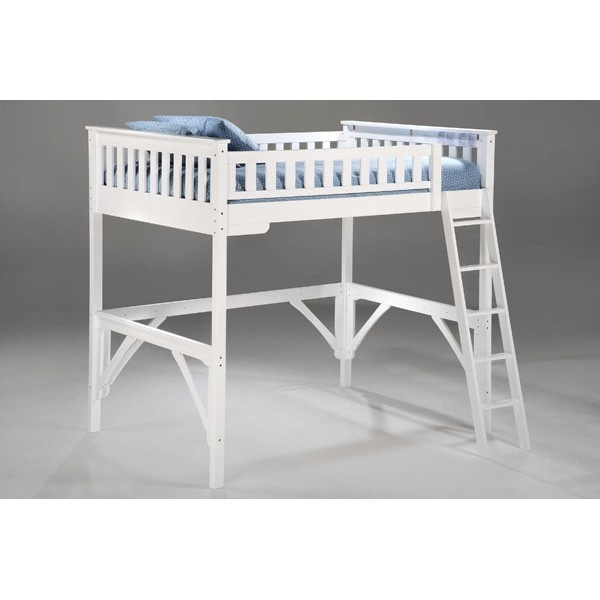 Buy Our White Ginger Loft Beds By Night And Day Furniture â˜u2026 Night And Day  Ginger Furniture White Loft Bed In Twin And Full With Desk â˜u2026