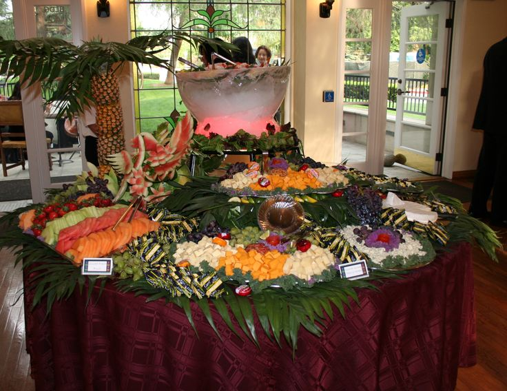 Round table display catering presentation pinterest for Table 6 brunch denver