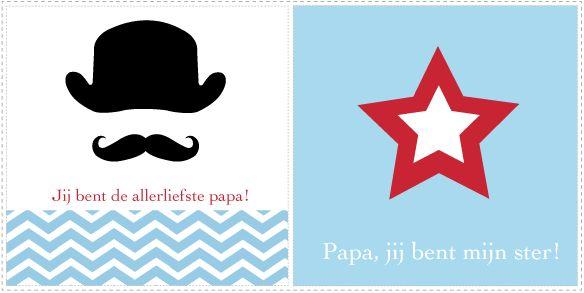 Printbare Vaderdag kaarten - Jetjes & Jobjes