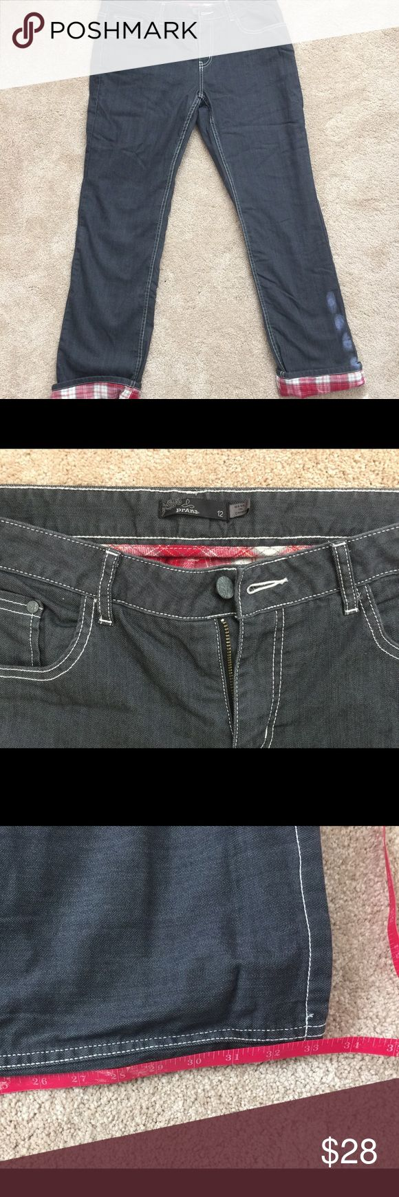Prana flannel lined jeans NWOT 12. Prana flannel lined jeans NWOT 12. Super cute. Measurements shown in photos. Too small for me so my loss can be your gain. Prana Jeans Straight Leg