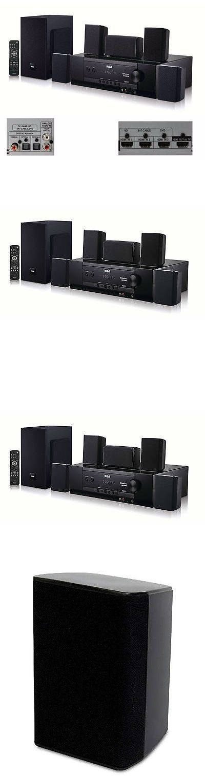 Home Theater Systems: Bluetooth Home Theater System 1000W Surround Sound Speakers Dolby Digital 5.1 -> BUY IT NOW ONLY: $209.23 on eBay!