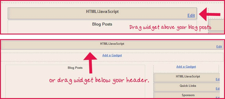 how to make a drop down menu in blogger