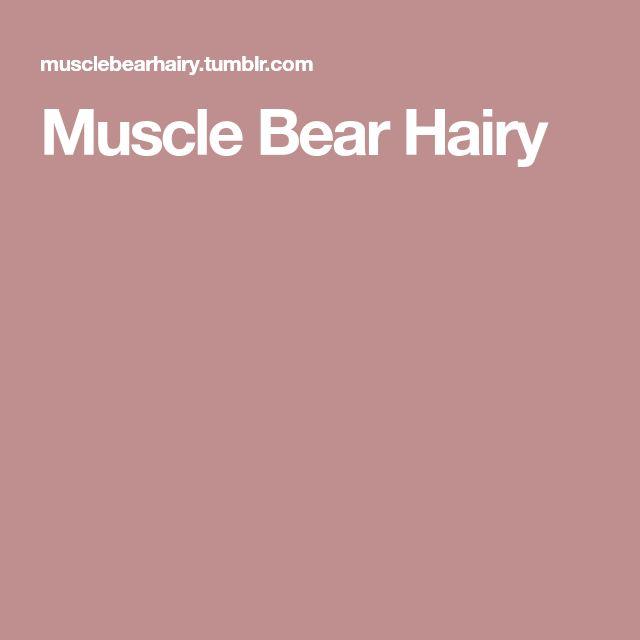 Muscle Bear Hairy