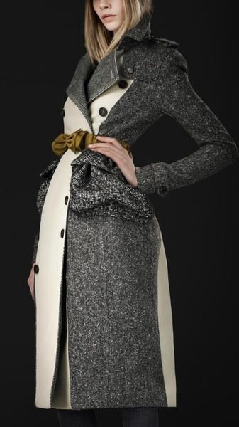 Burberry Prorsum Cotton Tweed Trench Coat - Click for More...