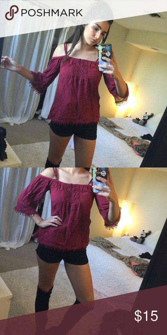 American Rag Boho Shirt! Boho and collar bones, my favorite! Unworn. American Rag Tops Blouses