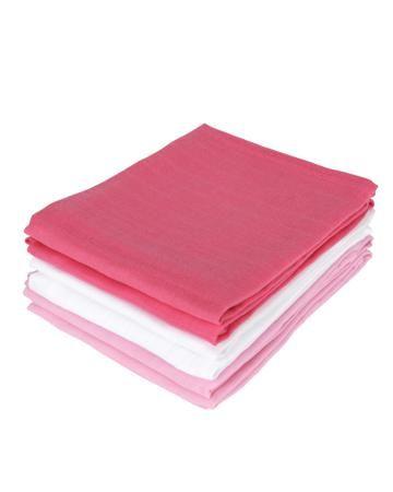 Jollein многоцелевые муслин 70х70 см 6 шт. фуксия-розовая-белая  — 1450р.  Комплект многоцелевых пеленок 70х70 см 6 шт. Jollein сделан из мягкой дышащей ткани - муслина. Пеленки идеально подойдут для каждодневного использования: во время кормления, переодевания, в качестве пеленок-подгузников, легкого одеяла или накидки.