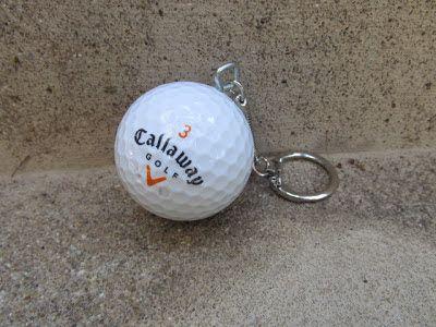 DIY golf ball keychain (possible favor)