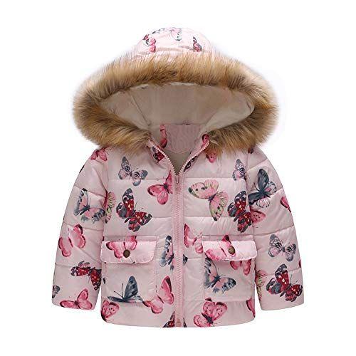 Baby-Girl-Boy Cartoon Car Print Winter Warm Jacket Hooded Windproof Coat