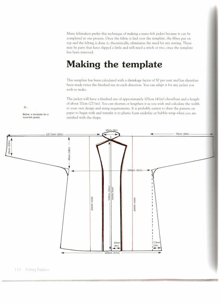 """Выкройки жакетов из книги Lizzie Houghton """"Felting Fashion"""" - Ярмарка Мастеров - ручная работа, handmade"""