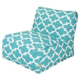 Trellis Indoor/Outdoor Beanbag Lounger in Teal