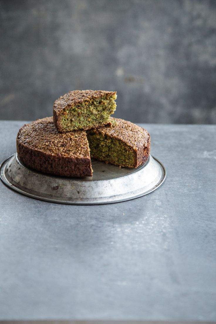 Flourless Pistachio Cake - a lush but deceptively light flour less nut cake with a great crumb and texture, this pistachio beauty is gluten free and dairy free.