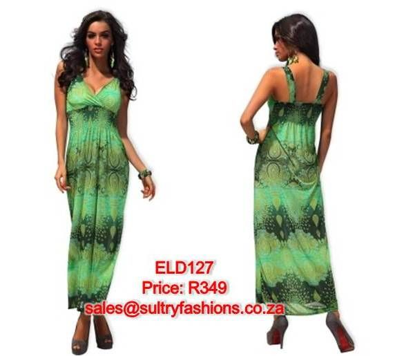 ELD127 - PRICE: R349  AVAILABLE SIZES: Medium/Large 10-12 To order, email: sales@sultryfashions.co.za