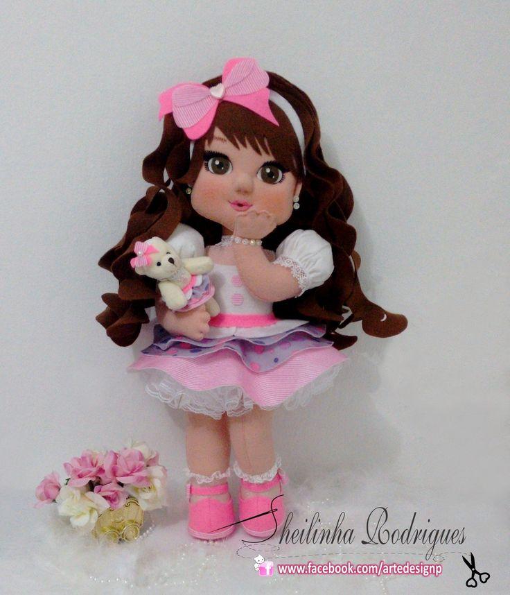 Boneca Kaká Beijinho (Feltro)