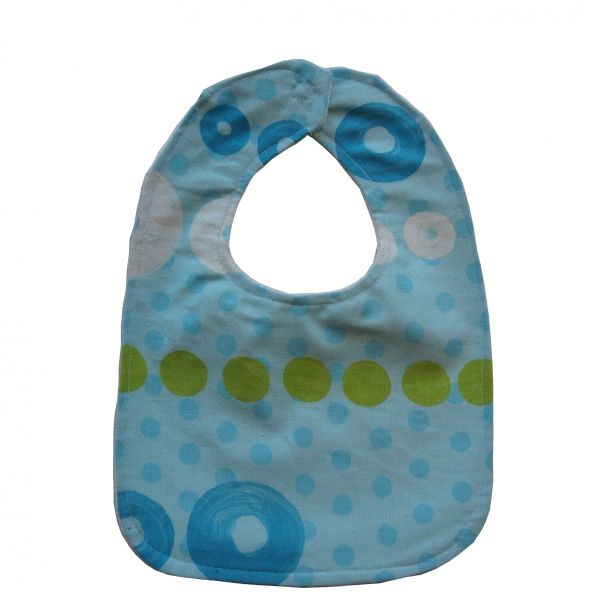 "Baby bib ""blue circles"""