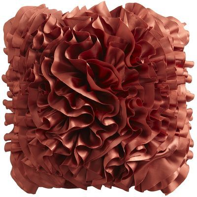 Pier One: Rust Flounce Pillow. My fave!! We have these on our bed!