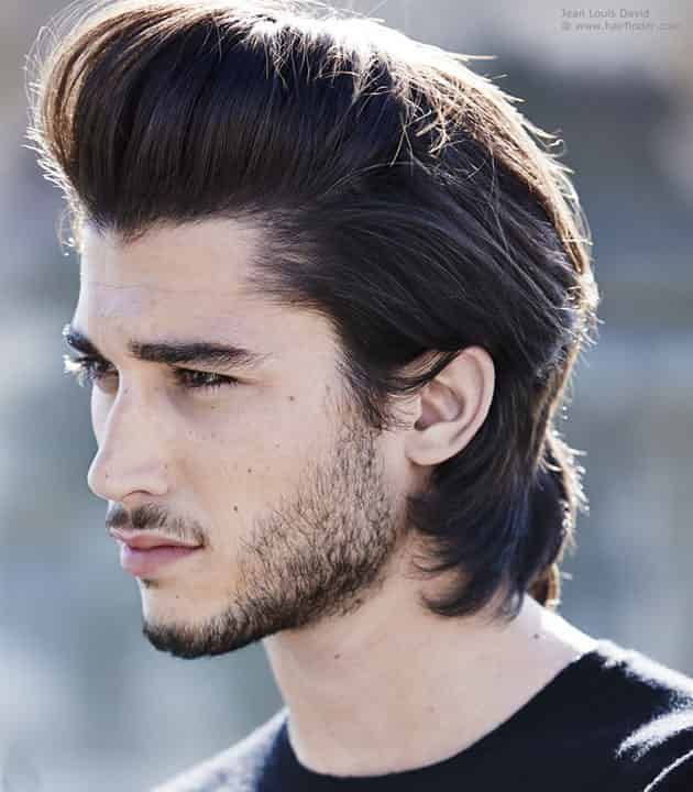Slick All Over Hairstyle Hot Hair Styles Men Haircut Styles Long Hair Styles Men