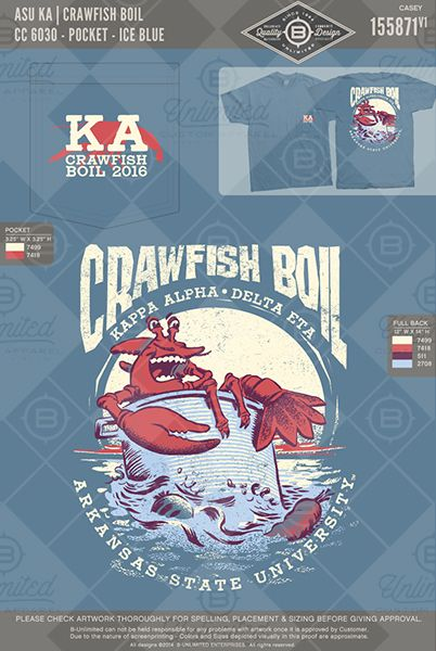 ADU KA Crawfish Boil #BUnlimited #BUonYOU #CustomGreekApparel #GreektShirts #Fraternity #Sorority #GreekLife #TShirts #Tanks #KappaAlphaOrder #KA #KappaAlpha #TheOrder #CrawfishBoil #Philanthropy #Function #Mixer #Food #Crawfish #Exchange