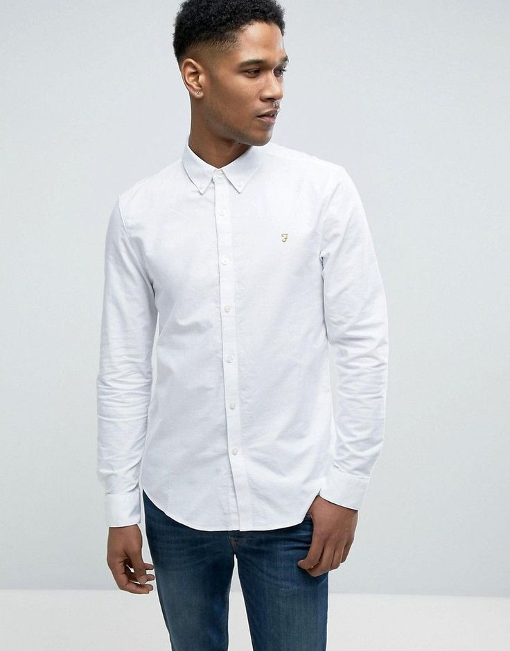 Get this Farah's basic shirt now! Click for more details. Worldwide shipping. Farah Brewer Slim Fit Oxford Shirt In White - White: Oxford shirt by Farah, Breathable cotton, Button-down collar, Embroidered logo, Slim fit - cut close to the body, Machine wash, 100% Cotton, Our model wears a size Medium and is 185.5cm/6'1 tall. From their birth in the 1920s, Farah has been adopted by subcultures across the board; from Mods to Skins and Rockabillies. Renowned for their classic canvas slacks and…