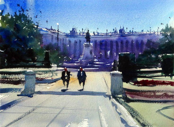 Palacio Real, #Madrid #watercolor