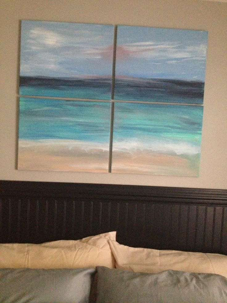 Beach canvas art - simple and beautiful